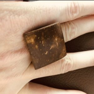 Coconut shell wood ring